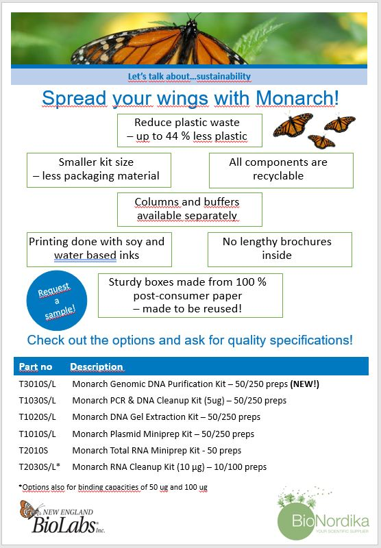 Monarch eco friendly kits
