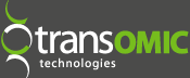 Transomic Website logo grey background